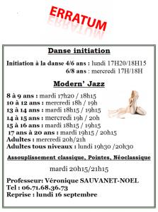 Erratum horaires Danse Modern'Jazz dans Danse erratum-danse-223x300