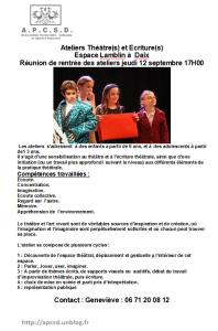 Rentrée des ateliers Théâtre  dans Theatre rentree-theatre-198x300