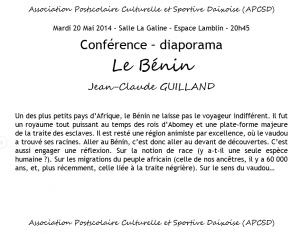 Conférence Jean Claude
