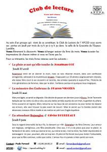 Club lecture 3° tri