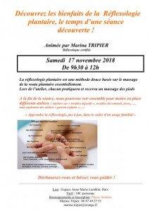 reflexologie plantaire stage octobre2018